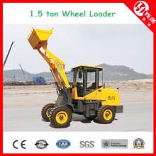 Zl15 1.5 High Efficiency Ton Wheel Loader with Fork (1500kg)