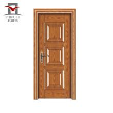 Fábrica que faz a extremidade alta a porta de entrada moderna de madeira de aço aprovada doem do fim