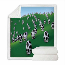Super Soft Throws and Blanket Bedding Set for Hospital with 3D Digital Printing Cow
