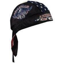 Custom Made Logo Impresso Algodão Preto Sports Biker Cap Bandana Headwrap
