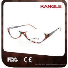 Old Lady lunettes de lecture demi lunettes jante en acétate, lunettes en acétate