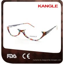 Old Lady reading glasses half rim acetate optical glasses, acetate eyeglasses