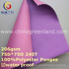 PVC Polyester Pongee Environmental Coating Fabric for Textile Garment (GLLML257)
