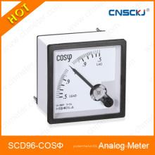 96X96mm Cos Medidor Analog Panel Meter