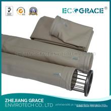 Saco de filtro coque industrial do PPS do coletor de poeira da fornalha para a filtragem do gás de conduto