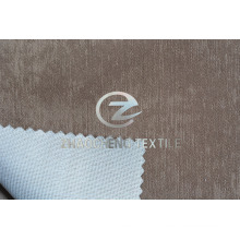 Veludo brilhante colado com tecido de tricô para roupas