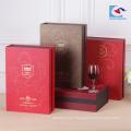 Vente chaude personnalisé Carton de luxe chinois classique boîte de vin rouge