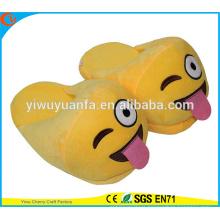 Hot Sell Novelty Design Naughty Plush Emoji Slipper