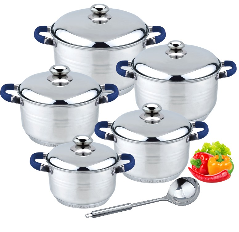 11pcs Blue cookware set 2020