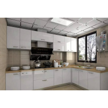 Exportación a Australia mercado blanco alto brillo 2 pack laca gabinete de cocina