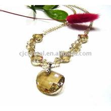 Collier de perles de mode 2015, joli collier en cristal