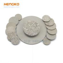 0.2-120um microns sintered metal powder porous metal 316L stainless steel filter disc