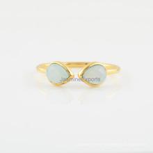 Handmade Aqua Chalcedony 925 Silver Ring Wholesale Supplier