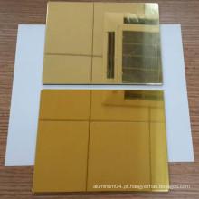 Painel composto de alumínio Gold Mirror