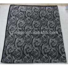 lit de tricot en cachemire pur imprimé double jette des couvertures