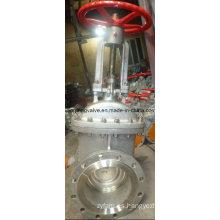 Válvula de compuerta de acero inoxidable con extremo de brida
