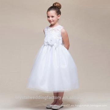 Los niños de la boda 2-12 años de edad, las niñas de moda de cumpleaños de encaje largo vestido de baile de flores niña vestido de los patrones de desgaste del partido de los niños LF06