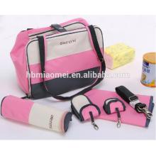 2017 nueva moda del pañal del bebé bolsa de hombro larga multifunción bolsa de pañales a prueba de agua momia
