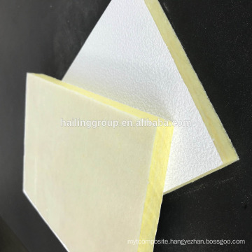 Acoustic roof fiberglass wool Ceiling Tile panel
