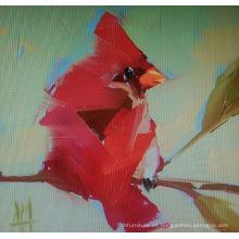Pintura abstracta roja del pájaro