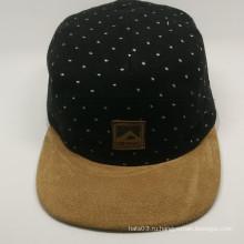 Новый дизайн пустых оптовых 5 панельных шляп с волновой точкой