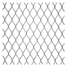 Galvaniserad / PVC Diamond Used Chain Link Fence