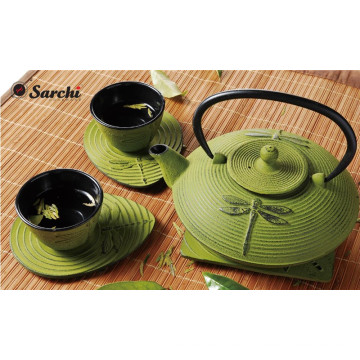 Japanese Dragonfly Cast Iron Teapot with Infuser