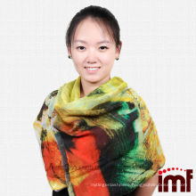 New Arrival Beautiful Painted Scenic Ladies Scarf Decorations Cashmere Modal Fabric