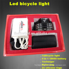Luces de la bicicleta del silicón del poder más elevado 1800Lumens 2XCREE XML T6 LED de múltiples funciones