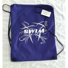 Nylon drawstring swim backpack bag