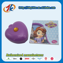 Stationery Set Toy Box Plastic Heart Shaped Box with Notebook