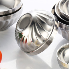 ChaoZhou stainless steel Lily bowls pasta bowls