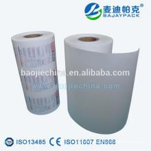 Impresión de papel recubierto médico de esterilización de vapor