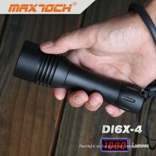 Maxtoch DI6X-4 1 * 18650 batería Cree T6 1000LM LED Scuba Diving Torch