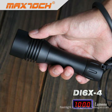 Maxtoch DI6X-4 Черный алюминиевый водонепроницаемый привело дайвинг фонарик факел