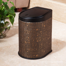Egyptian Design Leather Press Garbage Bin (H-3LA)