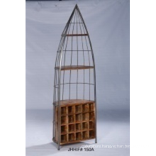 Vintage Style Display Book Shelf With Wood And Metal