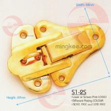 Cerradura de caja chapada en oro (S1-2S)