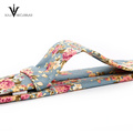 Estilo casual New Floral Desgin Skinny 100% algodón corbatas
