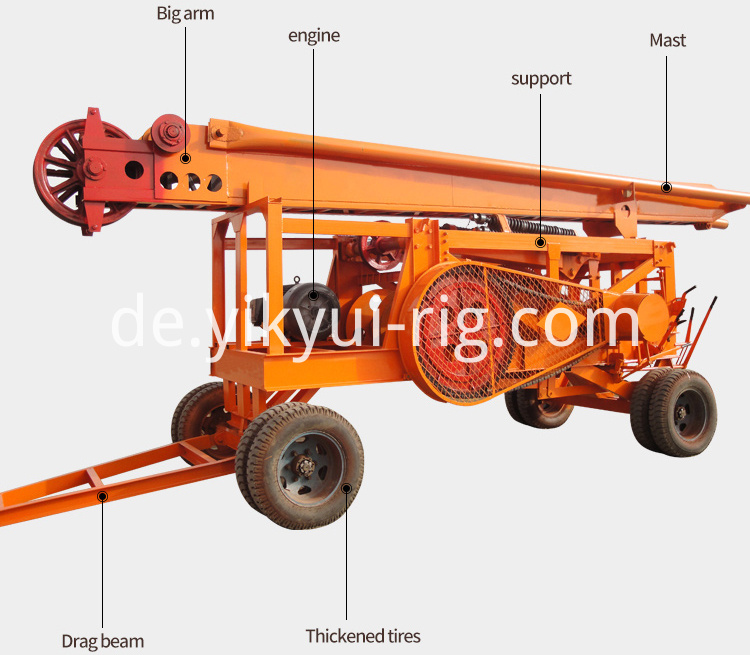 Tripod Support Cable Drilling Hammer Percussion Rig With Large Diameter Hole 2