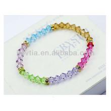 Bracelets à perles en cristal transparent multicolore 2014