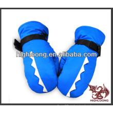 Niño caliente azul guantes de esquí baratos