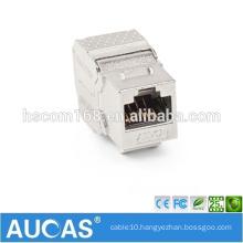 cat6 rj45 UTP 180 degree jack keystone module / systimax toolless female modular plug