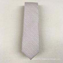 Hochwertige beleuchtete beige Polka Dot 100% Seide lustige Minion Krawatte