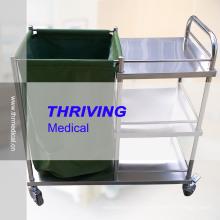 Chariot à linge pour hôpitaux en acier inoxydable