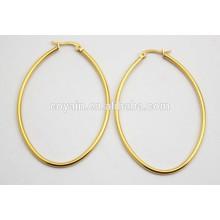 18K Vergoldung 316L Edelstahl ovale kleine billige Loop Ohrringe