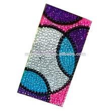 Etiqueta de acrílico de várias cores, adesivo de cristal, adesivo de pedra acrílica