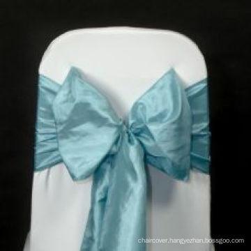 economical wholesale taffeta pintuck chair sash for wedding banquet hotel