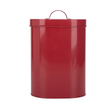 Escaninho de armazenamento vermelho dos alimentos para animais de estimação