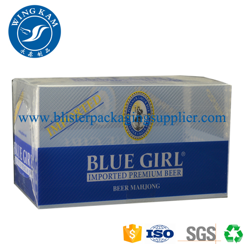 Large Capacity White Blue Color Plastic Folding Packaging for Apparel
